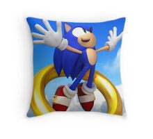 sonic and the leap of liminality Throw Pillow