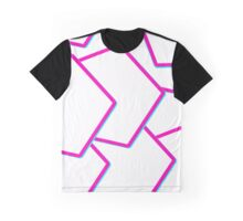 Neon Polygons Graphic T-Shirt