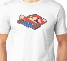 Isometric Gamer - Mario (Black outline) Unisex T-Shirt