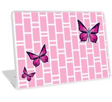 Ocean Butterflies Part 1 - Pale Pink Laptop Skin