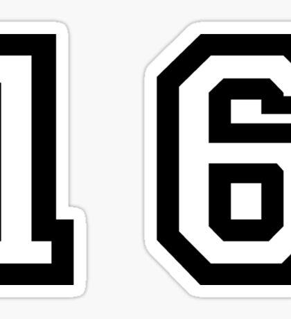 Number Sixteen Sticker