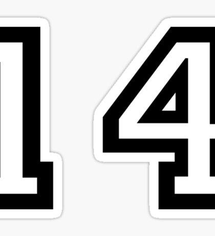 Number Fourteen Sticker