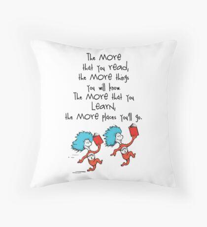 Read Across America Day 2016 Throw Pillow