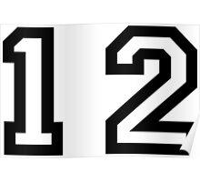 Number Twelve Poster