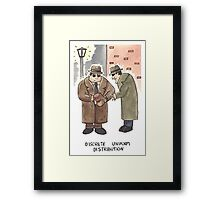 Discrete Uniform Distribution - Maths Pun Watercolour Card Framed Print