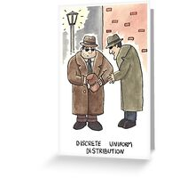 Discrete Uniform Distribution - Maths Pun Watercolour Card Greeting Card