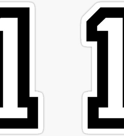 Number Eleven Sticker