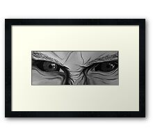 The Muse's Eyes (Black and White) Framed Print
