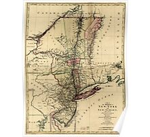 American Revolutionary War Era Maps 1750-1786 112 A map of the provinces of New York and New Yersey with a part of Pennsylvania and the Province of Quebec Poster