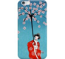 Spring Snow Parasol iPhone Case/Skin