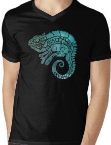 Chameleon in ethnic decorative ornamental manner Mens V-Neck T-Shirt