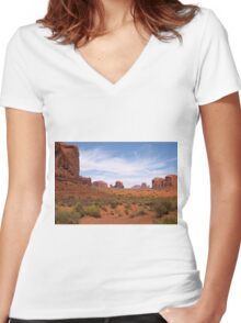 Into the Valley I Will Go Women's Fitted V-Neck T-Shirt