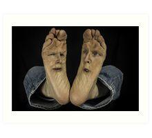 Agony of Da Feet aka Plantar Face-itis Art Print