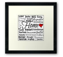 Home Quote and meanings Design Framed Print
