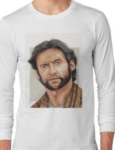 Hugh Jackman, the Man called Logan (aka The Wolverine) Long Sleeve T-Shirt