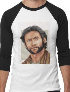 Hugh Jackman, the Man called Logan (aka The Wolverine) Men's Baseball ¾ T-Shirt