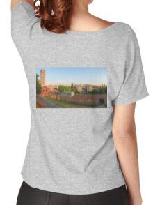 Passeggiata delle Mura Lucca summer evening Women's Relaxed Fit T-Shirt