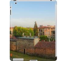 Passeggiata delle Mura Lucca summer evening iPad Case/Skin