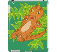 Baby Velociraptor on Leaves iPad Case/Skin