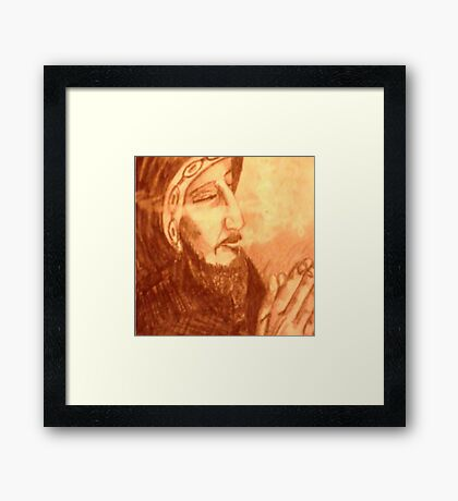 Holy Smokes Framed Print