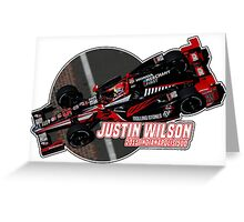 Justin Wilson (2015 Indy) Greeting Card
