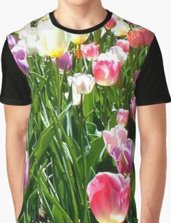Tulips Glowing in the Sun Graphic T-Shirt
