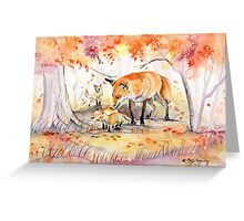 My Garden in Autumn Greeting Card