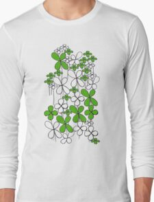 Field of Lucky Clover Long Sleeve T-Shirt