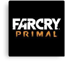 Far Cry Primal Logo - White Text Canvas Print