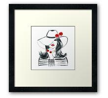 Fashion girl Framed Print