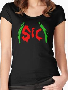 Richy (Sic) [Christmas Red and Green] Women's Fitted Scoop T-Shirt