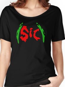 Richy (Sic) [Christmas Red and Green] Women's Relaxed Fit T-Shirt