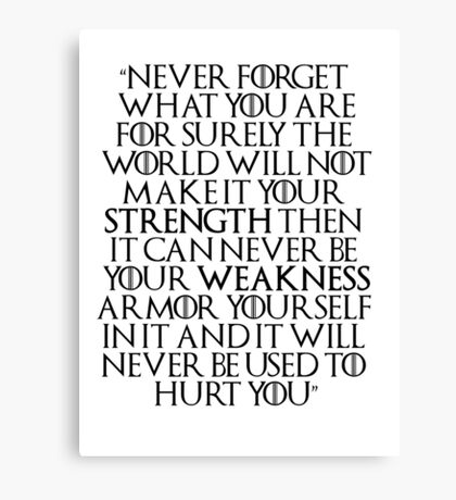 Game of Thrones - Tyrion Quote Canvas Print