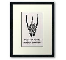 Sauron Ink Framed Print