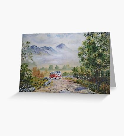Road to Croagh Patrick. Greeting Card