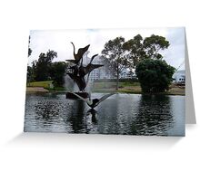 Sculpture - Swanning around Greeting Card