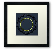 The Lord of The Rings - One Ring Framed Print