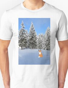 A fox in the snow. Unisex T-Shirt