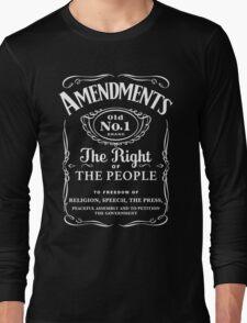 First Amendment Whiskey Bottle Long Sleeve T-Shirt