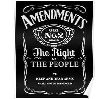 Second Amendment Whiskey Bottle Poster