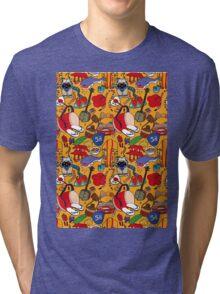 Okinawa theme illustration handmade Tri-blend T-Shirt