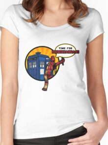 Time for Chimichangas!!! Women's Fitted Scoop T-Shirt