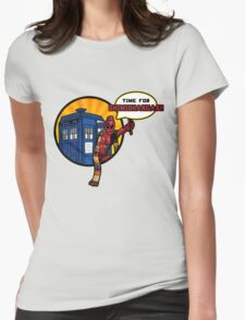 Time for Chimichangas!!! Womens Fitted T-Shirt