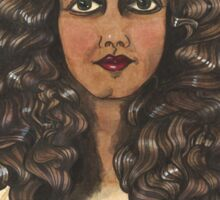Woman With Curly Hair Sticker