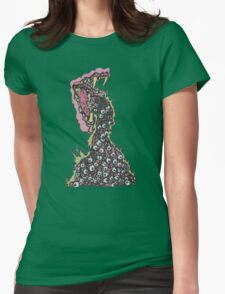 Messy Eyeball Vomit Womens Fitted T-Shirt