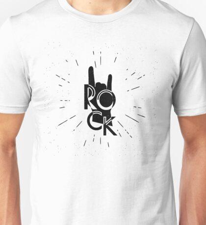 Rock human hand silhouette Unisex T-Shirt