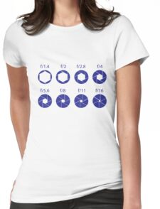 F-Stops - Blue Womens Fitted T-Shirt