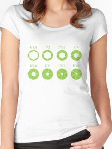 F-Stops-Green Women's Fitted Scoop T-Shirt