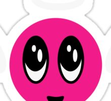 Angel Smiley (pink) VRS2 Sticker