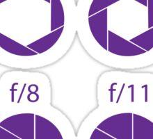 F-Stops-Purple Sticker